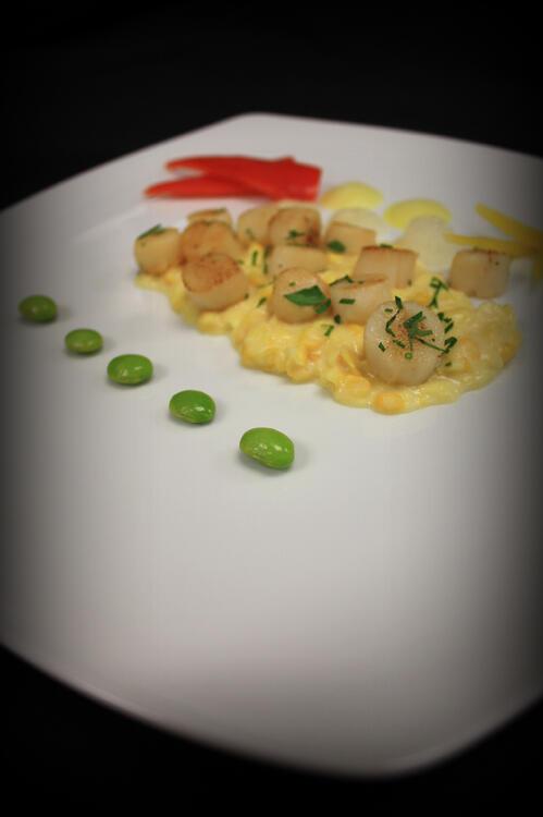 7 scallop and corn - lauren cerullo