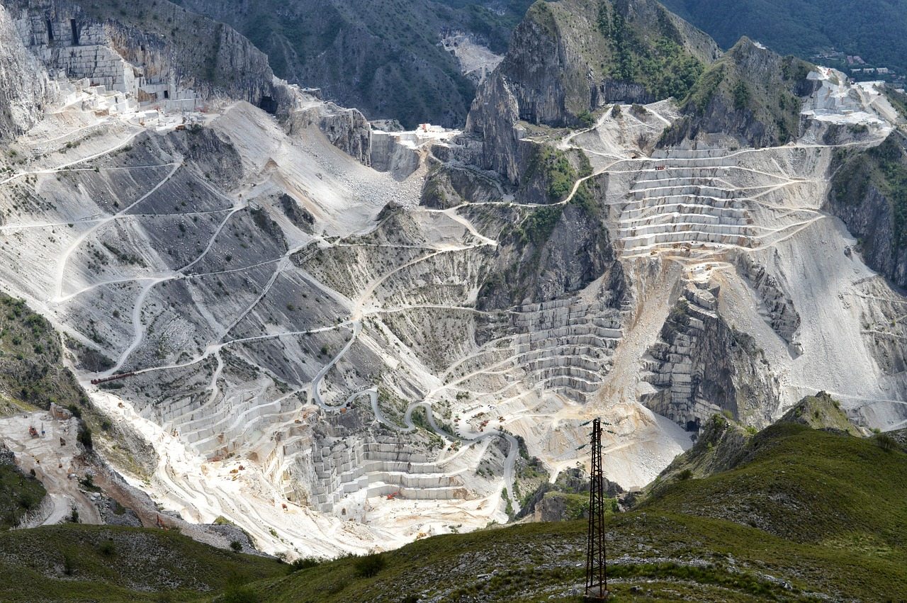 Carrara marble Tafelstern