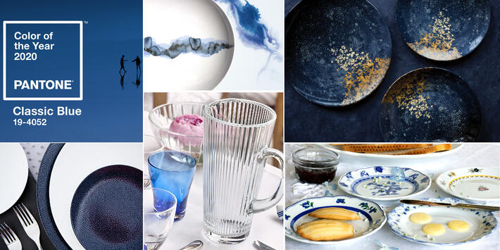 Classic Blue Porcelain and Glass Trends