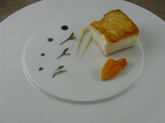 A Beautiful Sea Bass Plating