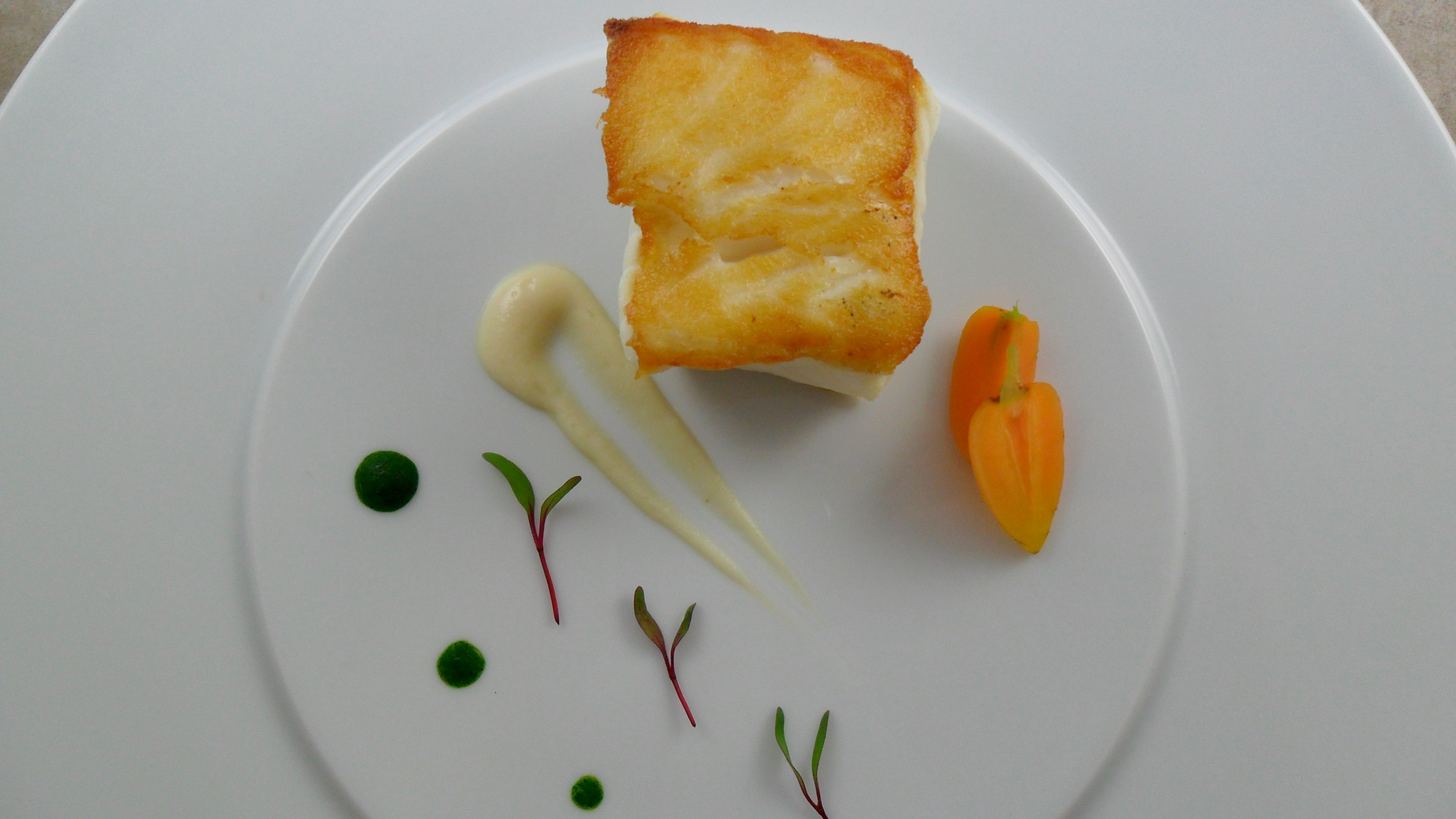 A Beautiful Sea Bass Plating from Chef Matthew Tillman