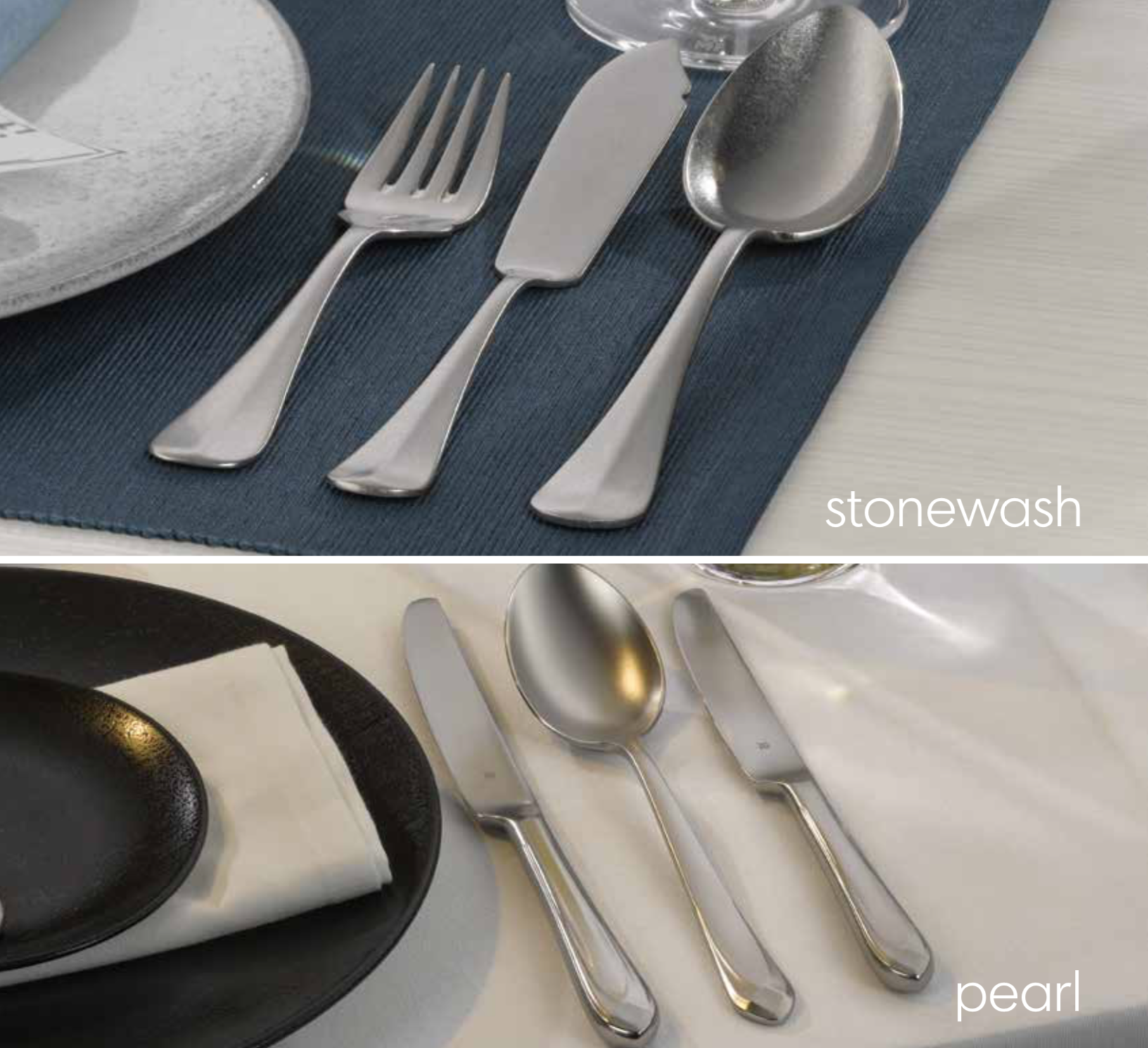 Pearl vs. Stonewash - A Quick Comparison of These Popular Flatware Finishes