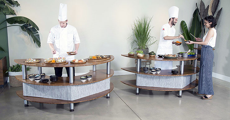 does your buffet service encourage interaction