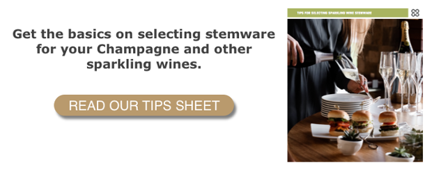 Sparkling Wine Stemware Selection Tips Sheet CTA