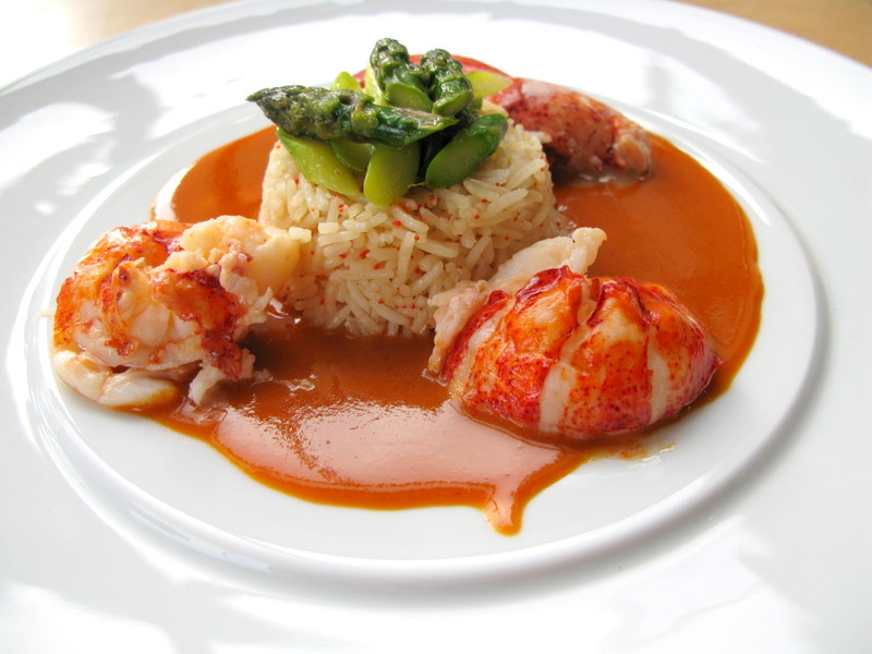 Lobster a l'Américaine and a Salmon Dish from Chef Andy Floyd
